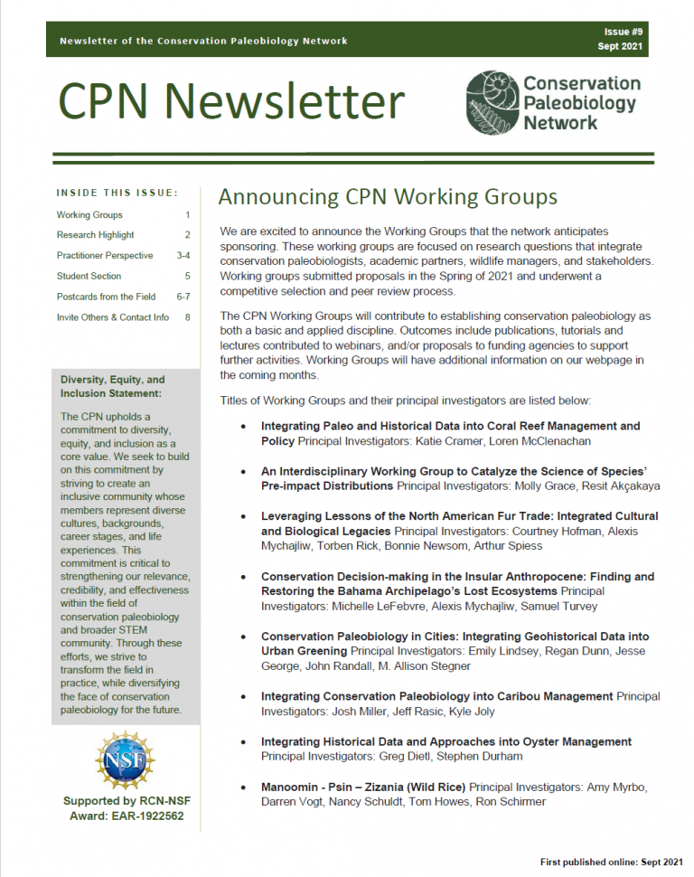 image of front page of September newsletter